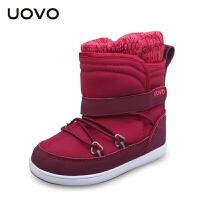 【满200减100】UOVO2017新款冬季儿童休闲靴子女童保暖雪地靴女孩靴子童靴  纽芬兰