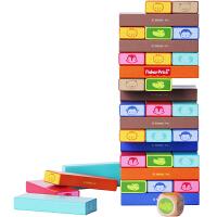 费雪Fisher Price 早教益智 动物彩色层层叠木制玩具FP1017A