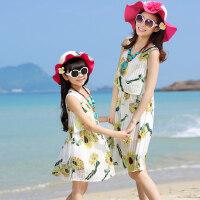 亲子装连衣裙韩版夏装母女装吊带长裙女童公主裙母女裙子