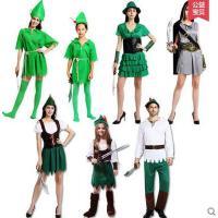 表演服装 演出服 化妆舞会成人男女cos儿童绿仙子精灵服小飞侠彼得潘罗宾汉衣服装