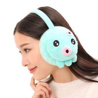 毛绒可爱卡通耳罩保暖儿童耳套情侣冬天 护耳套可爱章鱼
