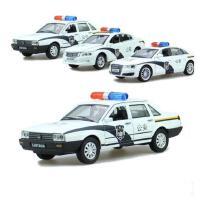 合金奥迪A8 警车玩具 本田雅阁 桑塔纳 回力声光汽车 110公安警察