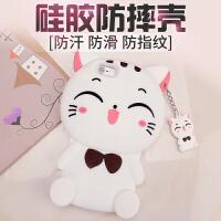 MCWL 苹果6plus手机壳iphone6plus硅胶女款防摔套个性猫咪韩国p