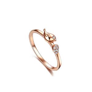 芭法娜 爱情鸟系列 s925银镶锆石 时尚戒指