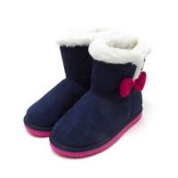 冬季童鞋女童雪地靴子儿童保暖加绒短靴