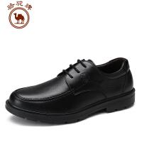 骆驼牌男鞋 新品舒适耐磨系带男鞋子商务休闲皮鞋圆头