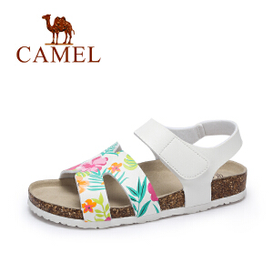 camel骆驼女鞋 夏季新款 休闲防滑平底凉鞋 舒适轻便沙滩鞋 女款