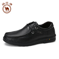 骆驼牌男鞋 秋季日常休闲手工缝制鞋舒适耐磨男皮鞋