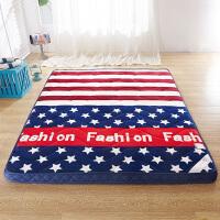 加厚法莱绒床垫床褥立体榻榻米垫被学生宿舍单人双人1.5m 1.8米床褥子