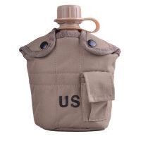 户外腰挂式高分子塑料水壶送铝饭盒保温尼龙套军迷装备