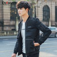 Dofonzee 2017年春季新款男士纯色夹克外套棒球服