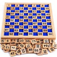 蒙氏数学益智早教玩具2-3-4岁宝宝儿童学习1-100数字拼图卡片智力