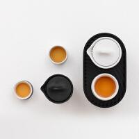 小巨蛋茶具 轻刻M1便携收纳旅行办公功夫陶瓷茶具快客杯一壶两杯礼品套装