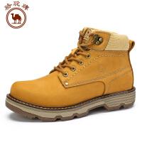 骆驼牌男鞋  冬季系带手工缝线马丁靴保暖男士休闲靴子耐磨