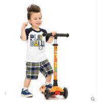 加固加宽牢固耐磨儿童踏板车滑滑车玩具可升降四轮闪光儿童滑板车