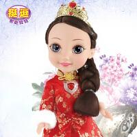 挺逗中国红冰雪公主会说话的智能仿真娃娃套装唱歌洋娃娃玩具女孩
