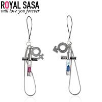 皇家莎莎RoyalSaSa卡通沙漏吊坠手机链DIY钥匙挂件包包挂饰 时尚饰品礼物HS1407SP440
