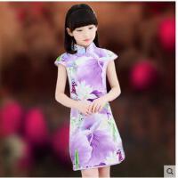 儿童旗袍女童中国风大童连衣裙小女孩古筝演出服儿童服装支持礼品卡支付