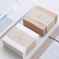 三年二班 超厚400入方砖便签本Z 简约文具空白可撕方形记事便签纸