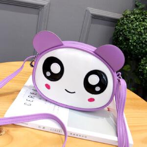 芭特莉【支持礼品卡支付】刺绣卡通印花小圆包小猴熊猫小兔子公主单肩包斜挎包