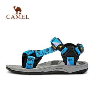 camel骆驼户外情侣款沙滩鞋 男女防滑魔术贴舒适凉鞋