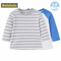 巴拉巴拉童装婴儿长袖T恤 打底衫秋装2017新款男宝宝圆领两件套棉