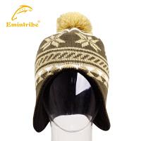渔民部落户外保暖针织帽 男女款休闲帽子抓绒帽时尚套头帽 125110