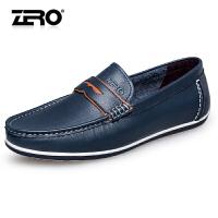 Zero零度皮鞋 男新款真皮套脚平底休闲软皮鞋驾车鞋豆豆鞋男鞋R71046