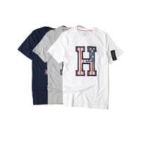 Tommy Hilfiger\汤米 T恤男士圆领纯棉短袖T恤