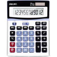 得力计算器 1654财务使用太阳能大按键计算机 计算器