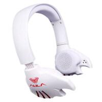 【当当自营】狼蛛 (AULA)  电音幽灵(白)USB头戴式电脑竞技游戏耳机潮 耳麦克风带话筒