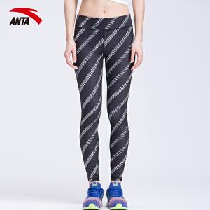 安踏女装运动裤夏季紧身瑜伽裤女士健身裤九分裤跑步裤16627782