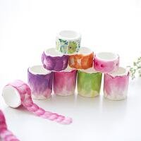 日韩创意文具 唯美花瓣和纸胶带水彩樱花手帐装饰封口DIY纸胶带