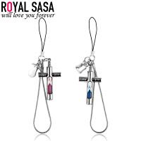 皇家莎莎RoyalSaSa卡通沙漏吊坠手机链DIY钥匙挂件包包挂饰 时尚饰品礼物HS1407SP439