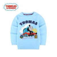 V托马斯和朋友童装男童春新款长袖T恤纯棉t恤衫卡通休闲中童打底衫