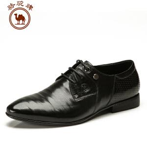 骆驼牌春季新款男鞋 耐磨 商务正装皮鞋 办公室流行男鞋子