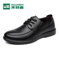 木林森男鞋 秋季新品男士商务休闲皮鞋 低帮系带百搭男皮鞋05367341