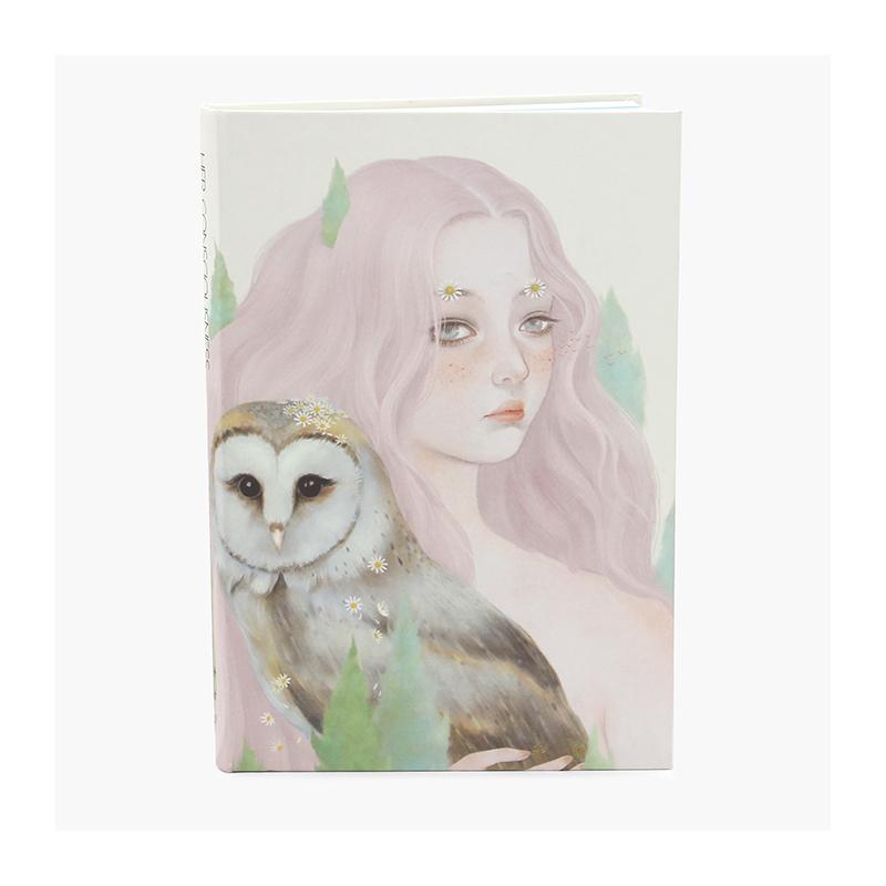 木与石后觉系列手绘女孩笔记本 小清新创意空白纸记事本日记本子
