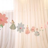 装饰生日派对拉花三角旗结婚布置拉花周岁百天布置拉旗婚房装饰