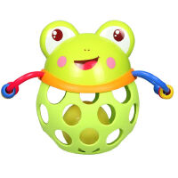美贝乐 婴儿玩具软胶健身球手抓摇铃益智玩具 萌趣小动物 MBL0089