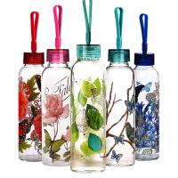 爱屋格林玻璃杯美式创意杯子男女耐热随手杯单层玻璃杯便携水杯500ml