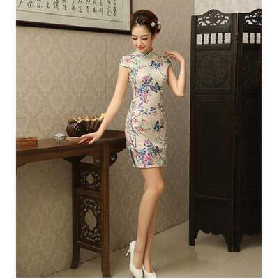 新款复古时尚民国旗袍蕾丝旗袍春夏款优雅日常连衣裙 可礼品卡支付
