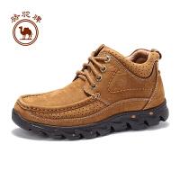 骆驼牌男鞋 冬季 日常休闲高帮系带厚底户外休闲鞋