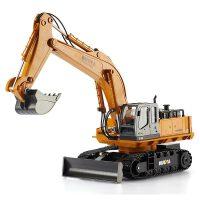 汇纳 2.4G无线遥控挖掘机 可充电儿童玩具车 11通道合金挖掘机510