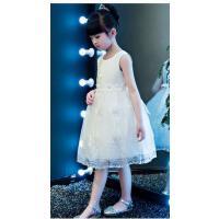 儿童礼服公主裙夏季蓬蓬花童婚纱长裙女童主持六一演出晚礼服