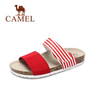 Camel/骆驼女鞋 2017夏季新品 休闲舒适女拖鞋 沙滩简约拖鞋