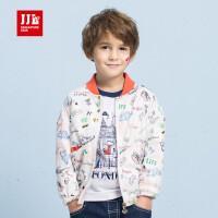 季季乐2017年秋季新款男童时尚棒球服中小童儿童开衫外套