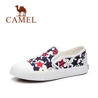 Camel/骆驼女鞋 2017春夏新款 韩版小清新休闲舒适透气帆布鞋