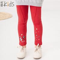 初语童装 冬装 长裤女童打底裤新款儿童裤子T5420310052