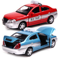 美致MZ 合金玩具汽车模型 仿真出租车的士 回力小汽车儿童玩具